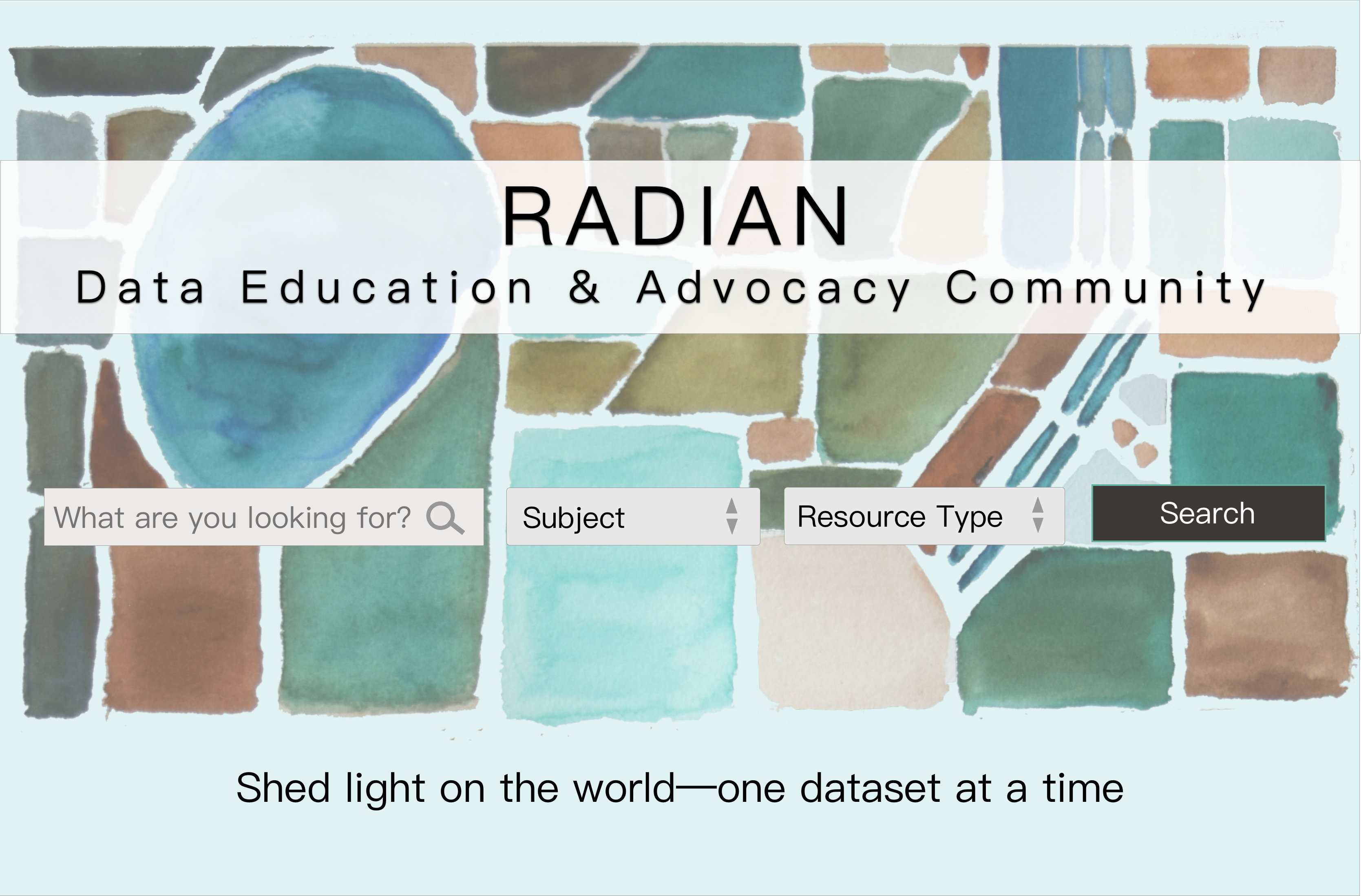 Radian site mockup